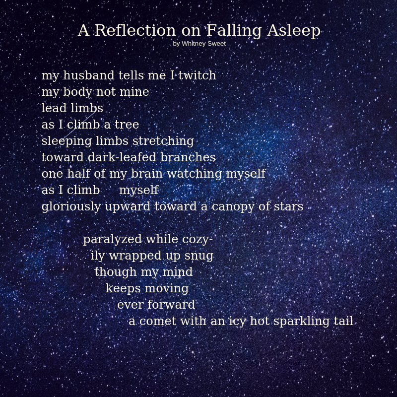 A Reflection on Falling Asleep